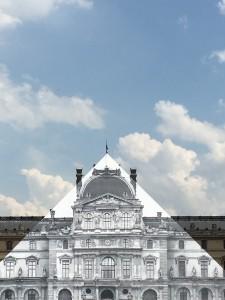 JR artist pyramide du Louvre